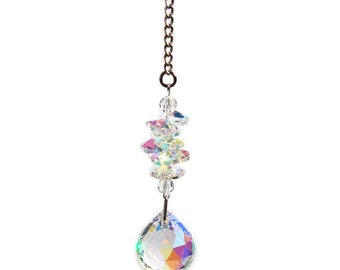 Aurora Borealis Crystal Ornament - 30mm Ball Ornament - Crystal Sun Catcher - Rainbow Maker - Wedding Decor - Swarovski Ornament