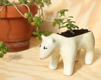 Ceramic Bear planter Pearl/Beige