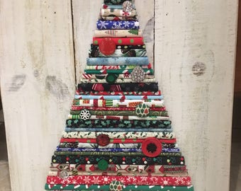 Fabric Christmas tree decor