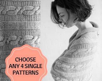 Choose Any 4 Knitting Patterns