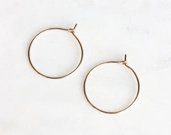 Gold Hoop Earrings | Silver Hoop Earrings | Thin Gold Hoops [Lunar Earrings]