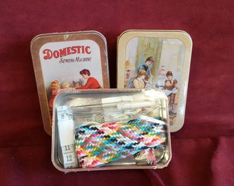 Travel Sewing Kit In a Vintage Inspired Tin