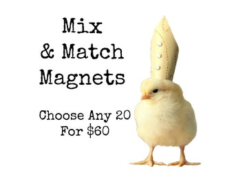 Chicks in Hats Chickens Hats Baby Animal Magnets (20) You Choose!