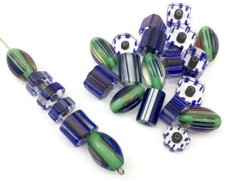 24 furnace glass beads, 9mm to 17mm # PV43