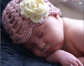 Toddler Hat Crochet Pattern  for SPRING PROMISES BEANIE digital