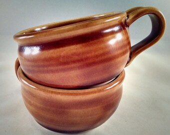 Gift Under 30, Pottery Soup Mug, Pottery Soup Bowl, Soup Bowl with Handle, Soup Mug, Soup Crock, Oversized Mug, Cappuccino, Ready To Ship