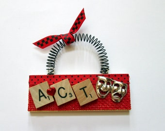 Love to Act Drama Acting Scrabble Tile Ornaments