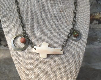 Carved Whelk Shell necklace