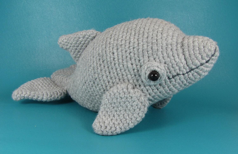 Dolphin - PDF amigurumi crochet pattern from edafedd on Etsy Studio