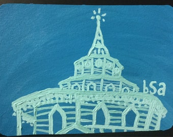 Flat Hand Painted Notecard