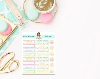 Housework Planner Stickers