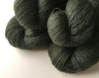 Reclaimed Sport Yarn - Merino Wool - Olive Green