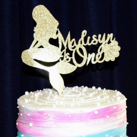 Mermaid Cake Topper Mermaid Birthday Cake TopperPersonalized