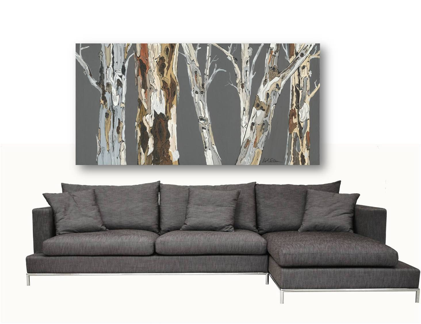 Extra LARGE Wall Art Landscape Print Tree Canvas Dining