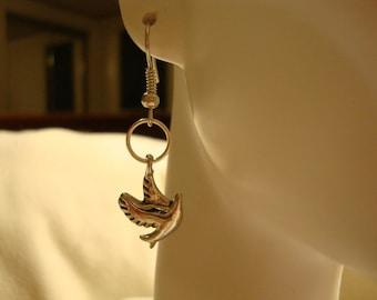 dove earrings, silver dove earrings, cute dove earrings, dove lover gift, dove gift, dove decor, unique dove earrings, dove, gift item,(306)