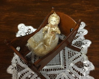 Antique Handmade Baby/ Miniature/Dollhouse
