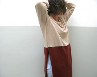 Sweater long wool and bamboo