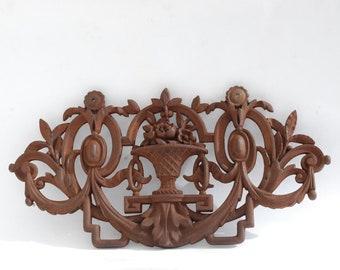 Vintage Iron Decorative Grate Panel, Cast iron decor, Garden decor.