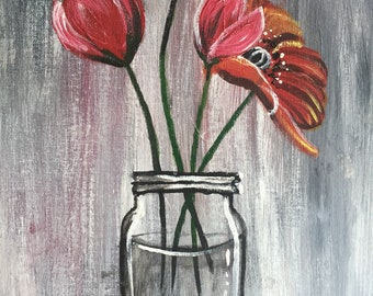 Poppies in a Jar