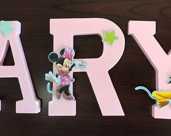 Mickey and Friends Nursery Wooden Name Letter