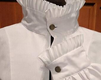 Fencing Shirt Ruff Collar & Cuffs Gipsy Peddler SCA Rapier Armor