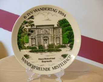 Commemorative Plate of Haus Wahnfried, Composer Richard Wagner's Home
