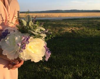 Bridal bouquet, wedding bouquet, silk flowers