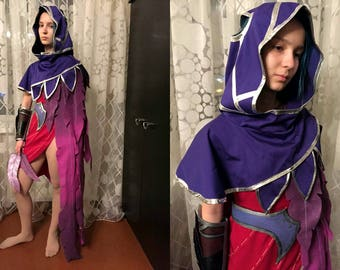 Xayah Legue of Legends cosplay costume to order