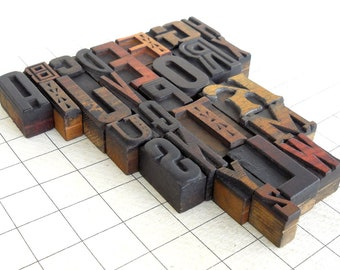 A to Z - Vintage Letterpress Wood Type Collection -VG111