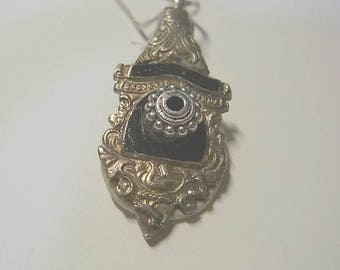 Pendant, cutlery, spoon handle, tibetian silver ring charm