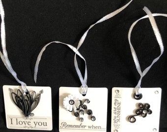 Handmade Quilled Gift/Bottle Tags