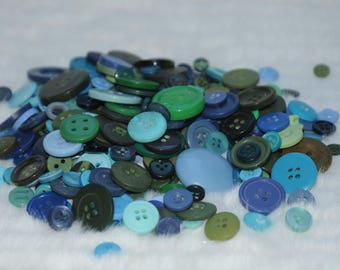Assortment of buttons in assorted sizes and colors