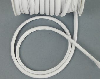 Elastic cord in white fabric for making headbands X 50 cm