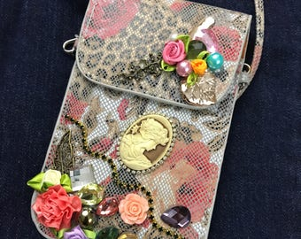 Hand Made and Embellished Shoulder/Cross Body Purse