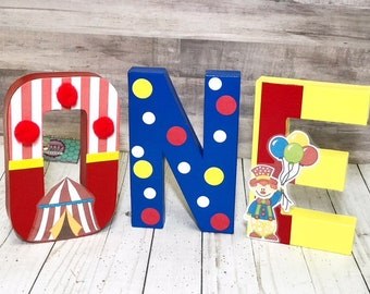 Circus birthday letters -  circus birthday - Circus birthday decor -  1st birthday prop - 1st birthday circus - 1st birthday carnival