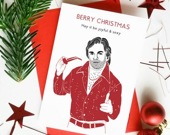 """Funny Matt Berry Christmas Card Funny """"Berry Christmas"""" I.T Crowd 