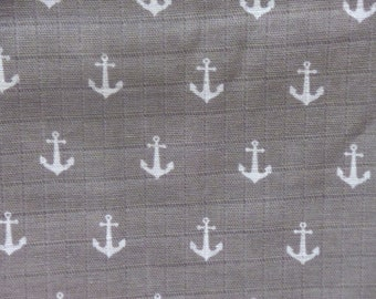 Riley Blake Double Gauze Fabric - Anchor Swaddle Blanket Fabric - Nautical Baby Blanket Fabric - Photo Prop Baby Fabric - G585