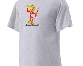 Reddy Kilowatt 'A' Personalized T-shirt 100% Cotton Atomic Electricity Drop Ship Services