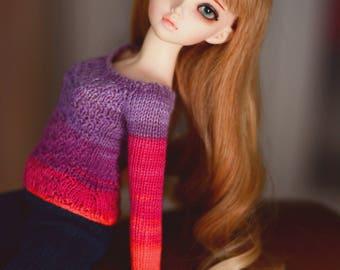 BJD sweater for minifee MSD 1/4 bjd dolls with ombre