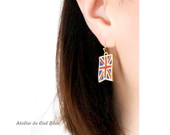 World Cup 2018, UK Flag Earrings, United Kingdom Flag Earrings, British Flag, UK Flag, British Flag, Flag Jewelry, Gift for World Cup Lovers