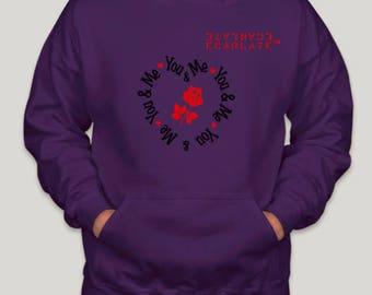 "ECARLATE ""Valentine's Day"" Hoodie Purple"