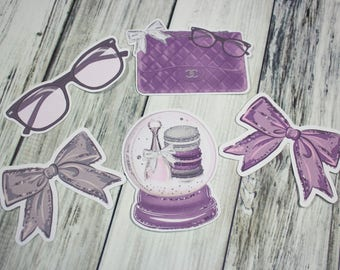 Planner Die Cuts - Die Cut Set - Christmas Die Cuts - Pointsettia Die Cut Set - Candy Cane Die Cuts - Bow DieCuts - floral die cut set