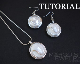 Tutorial wire wrapped, tutorial jewelry, tutorial in handmade, wire wrap tutorial, pdf tutorial, jewelry lessons, jewelry instructions, pdf