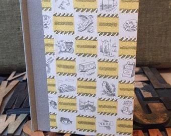 Journal - Large Blank Yellow British Themed