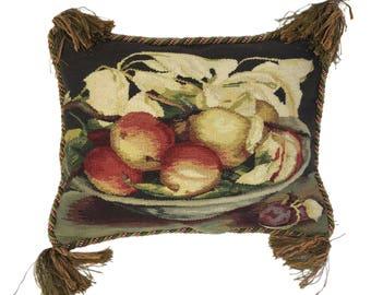 Vintage Aubusson Still Life Pillow