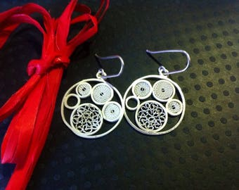"Earrings ""Meli Melo circle"""