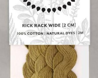 Naturally Dyed 20mm Rick Rack-Olive