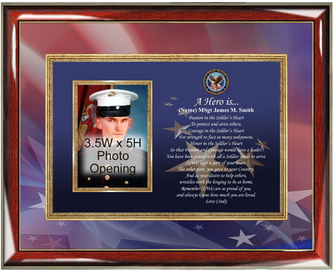 Military photo frame personalized poetry plaque service promotion sold by allgiftframes jeuxipadfo Images