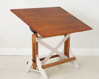 Vintage Adjustable Drafting Table, Restored Drafting Table,, Adjustable Drafting  Table, Drafting Table