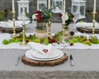 Linen tablecloth, linen table cover, linen table top, Christmas tablecloth, wedding tablecloth, Rustic tablecloth, Wedding table decor